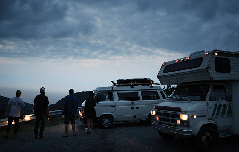 Cruising around Canada's Ocean Playground vans