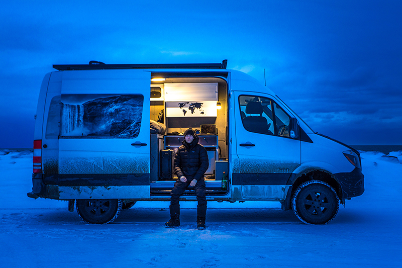 mercedes sprinter snow winter