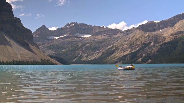 floating and paddling in lake canada