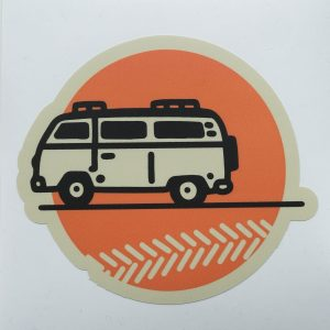 Sunset cruise - Sticker by Zooloo Design