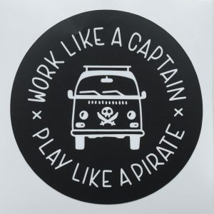 Work Like a Captain - Sticker by Zoolo Design
